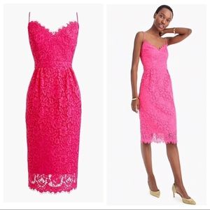 JCrew Pink Lace Cocktail Dress Size 6 - NWT